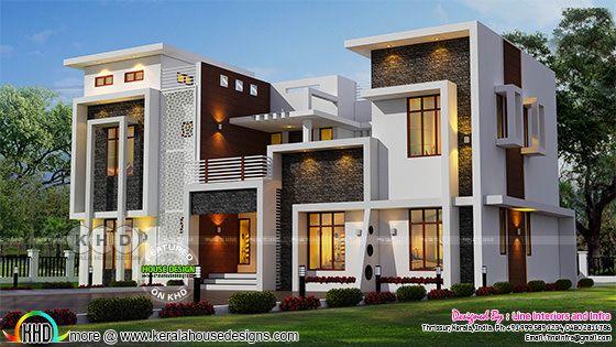 Luxurious modern contemporary Kerala home design