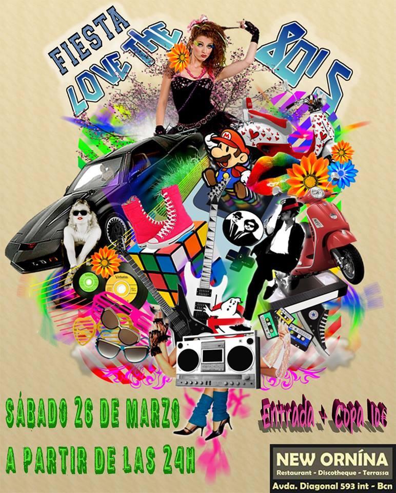 Flyer Fiesta Love The 80's