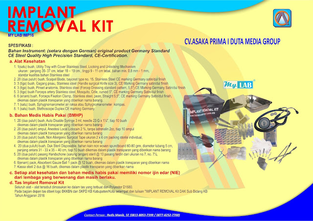Implant Kit,ImplanT ReMoval Kit,jual Implant Kit,jual Implant removel kit,implant,implant kit murah,implant rEmoval Kit murah,rab Implant Kit, DAK BKKBN 2017