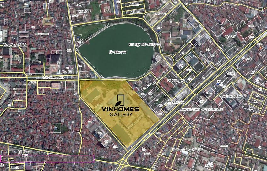Lợi thế đắc địa từ vị trí Vinhomes Gallery Giảng Võ