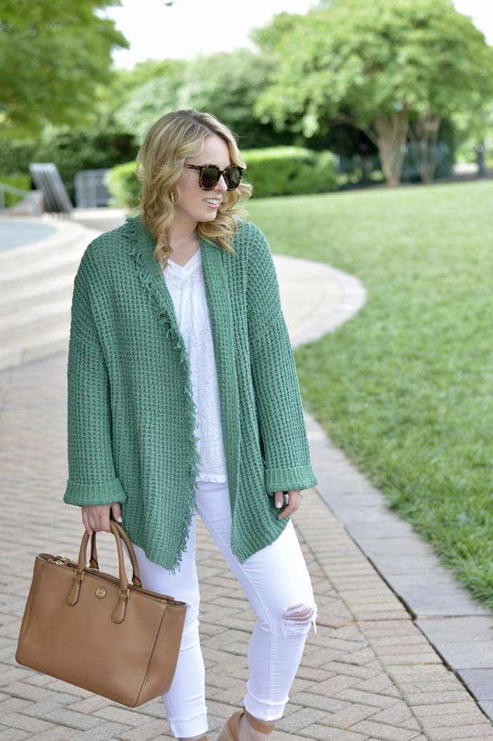 waffle knit cardigan nordstrom