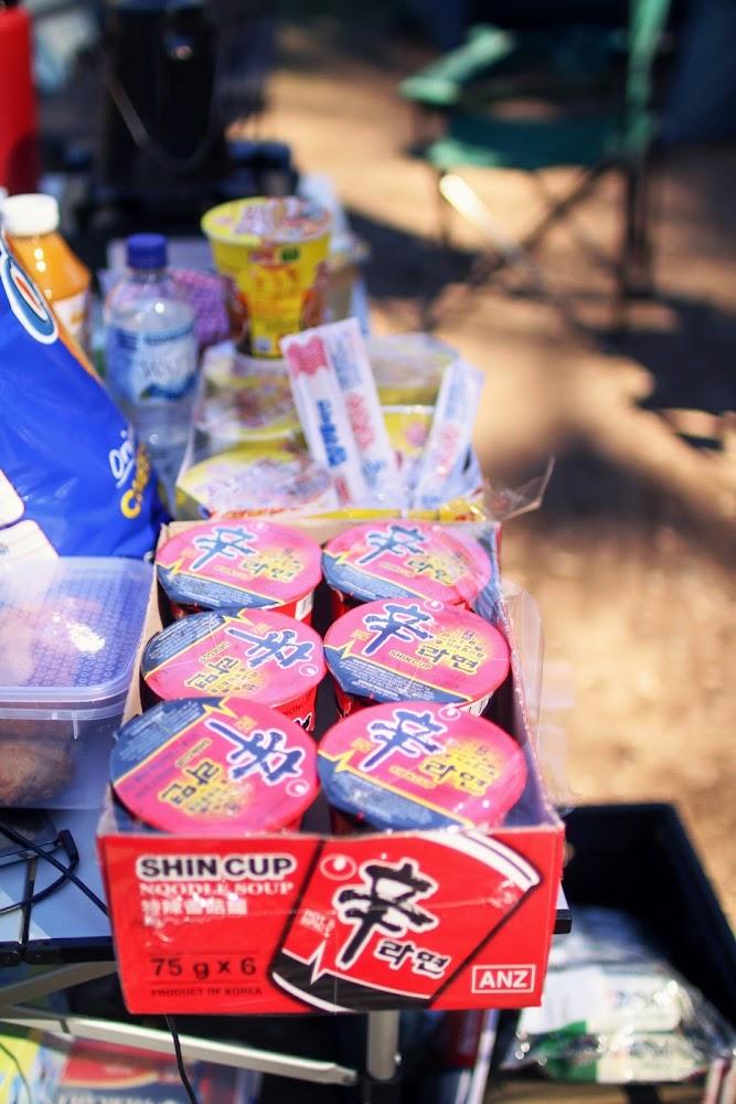 Instant Ramen Noodles Camping Food