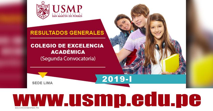 Resultados USMP 2019-I CEA (9 Septiembre) Lista Ingresantes Examen Admisión Especial - Colegio de Excelencia Académica - Universidad de San Martín de Porres - www.usmp.edu.pe