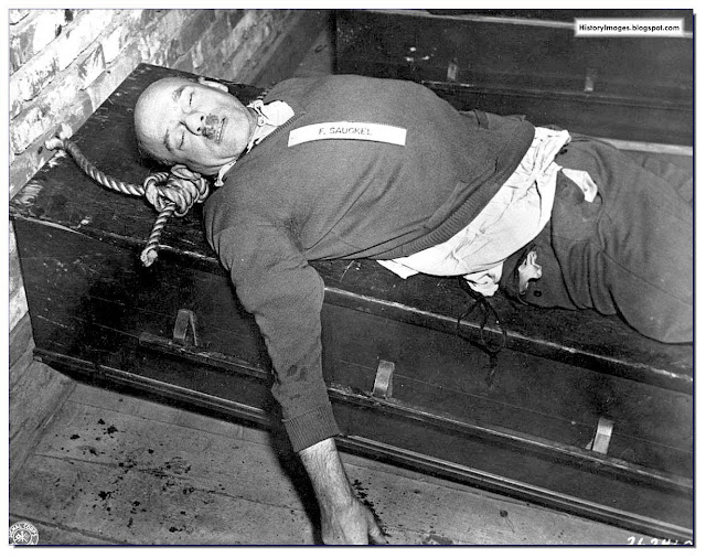 Fritz Sauckel after he was hanged on October 16, 1946