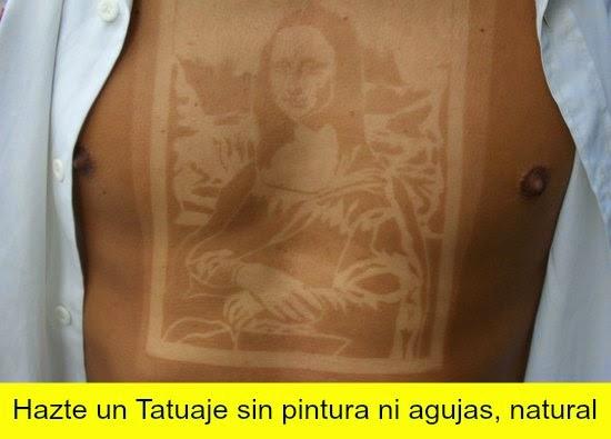 tatuarse sin agujas con sol