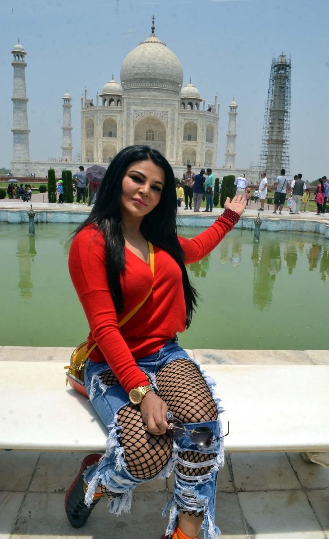 Actress Rakhi Sawant Visits Taj Mahal