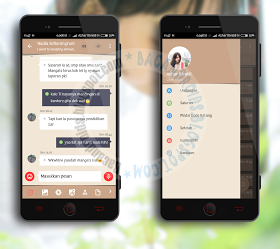 BBM MOd Simple Brown Latest Android terbaru v3.3.0.16 Unclone