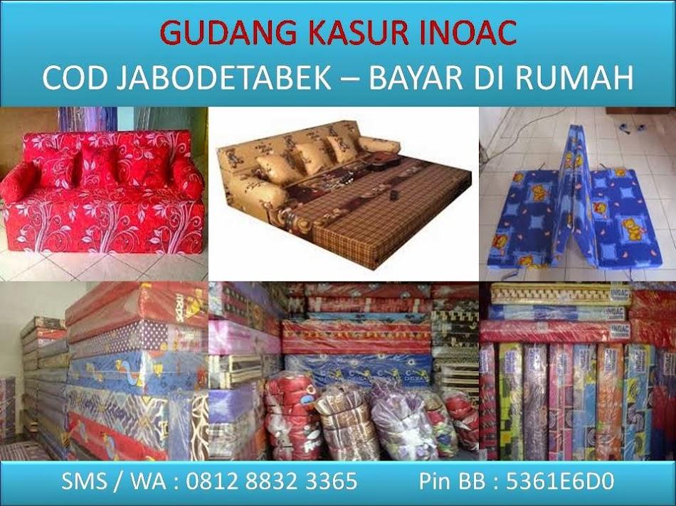 Sofa Bed Kasur Busa Lipat Inoac Jakarta Corner Uk Fabric Gudang