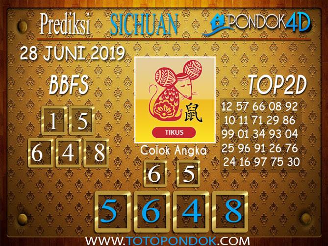 Prediksi Togel SICHUAN PONDOK4D 28 JUNI 2019