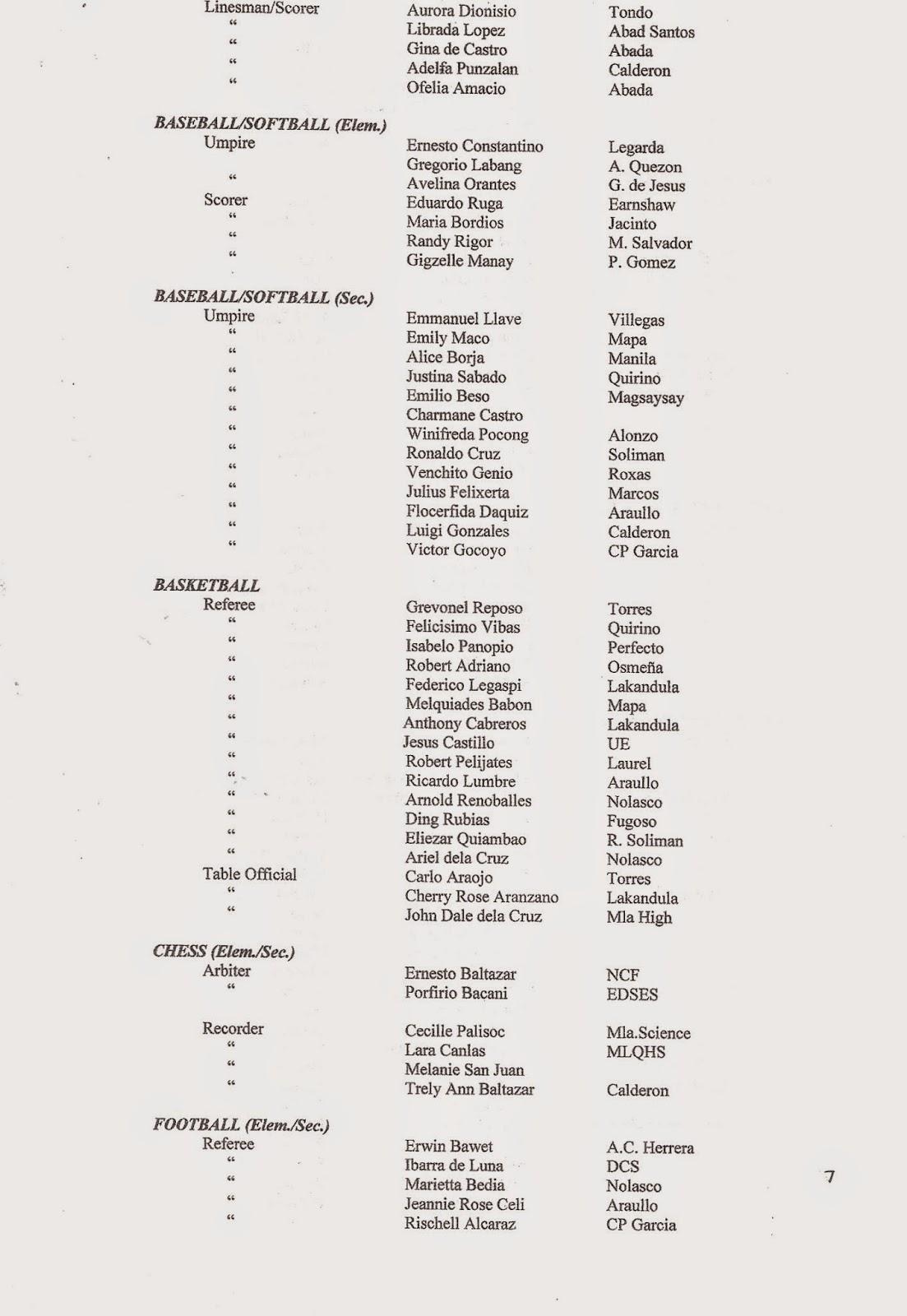 Department of Education Manila: Division Memorandum No
