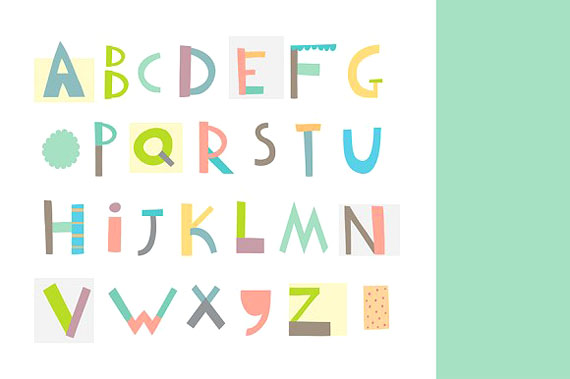 geometric alphabet for kids by Lera Efremova