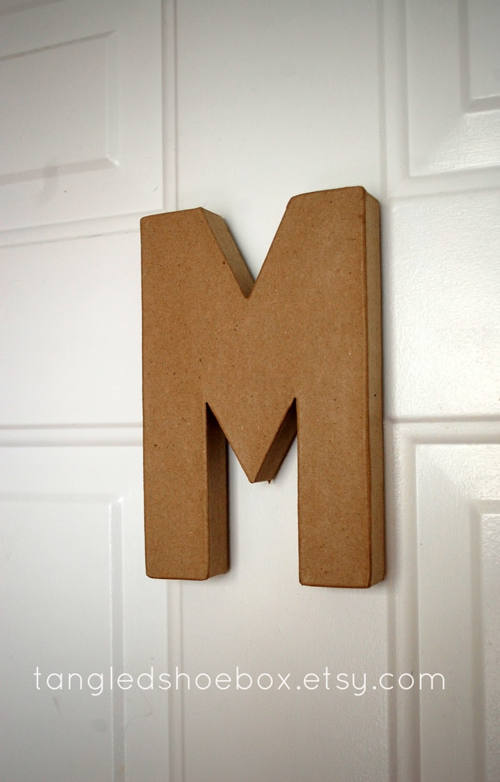 Tangled Shoebox 3d Cardboard Letter Magnet