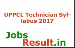 UPPCL Technician Syllabus 2017