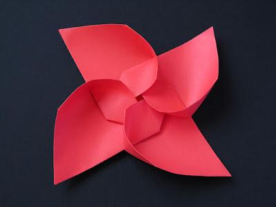 Vista 2, origami modulare: Girandola modulare - Modular Pinwheel by Francesco Guarnieri