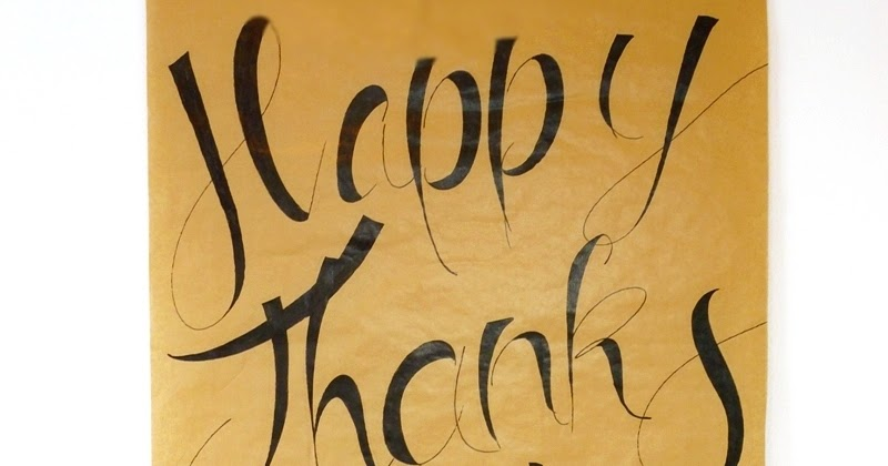 Diy easy calligraphy thanksgiving poster party ideas