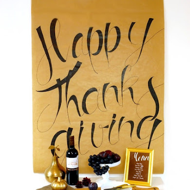 DIY Easy Calligraphy Thanksgiving Poster