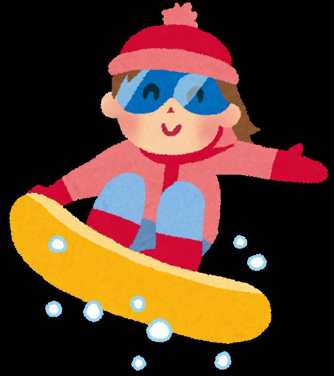 スノーボードのイラスト女の子 かわいいフリー素材集 いらすとや