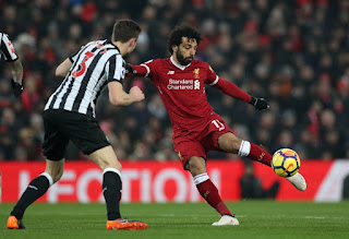 Mohamed Salah continues to score in Liverpool's win over Newcastle