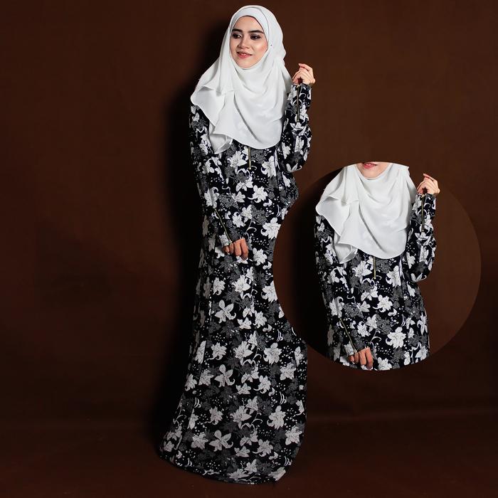 Jubah T-shirt muslimah tak perlu iron