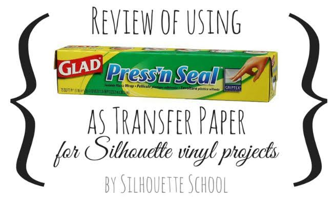 Silhouette, Press 'N Seal, transfer tape, Silhouette Cameo, Silhouette Projects