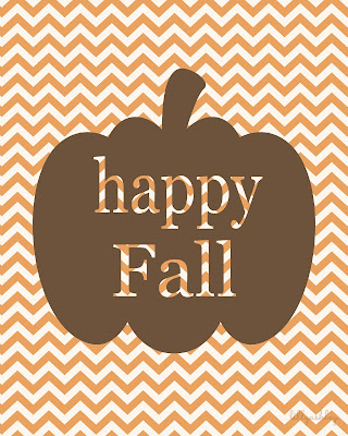 Pumpkin Chevron Printables free for Fall