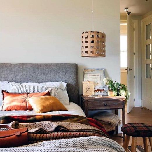 desain interior kamar tidur rumah minimalis natural kayu