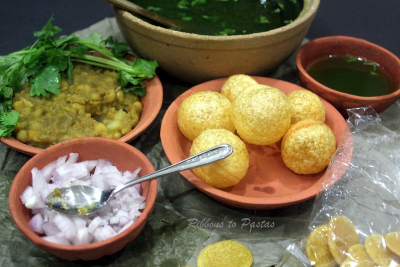 Paani Poori with Ragda - Ribbons to Pastas