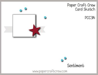 Paper Craft Crew Card Sketch Challenge #PCC314