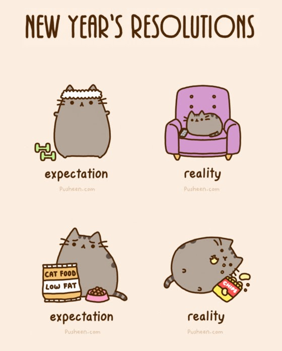 Cat Resolutions Move More New Years Resolution Cats Funny New