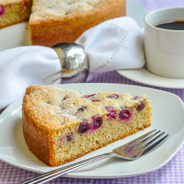 Sunken Grape Almond Cake