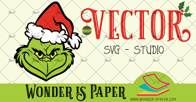 VECTOR: Cara del Grinch