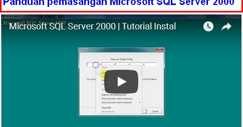 Tutorial Instal Microsoft SQL Server 2000