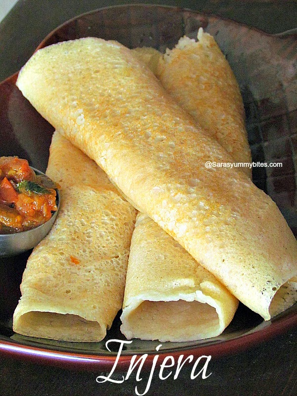 Ethiopian Injera Without Teff Flour African Dosa Quick