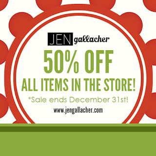 50% off all Jen Gallacher workshops, printables, tutorials, Ebooks, and more! #scrapbooksale