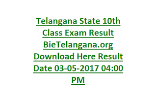 Telangana State 10th Class Exam Result BieTelangana.org Download Here Result Date 03-05-2017