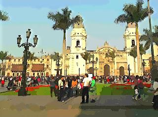 Lima: Plaza Mayor, La Catedral e Palacio Arzobispal