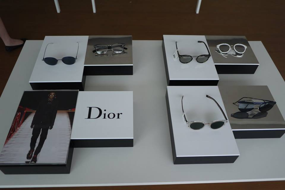 57c1db347c0 The celebrities were spotted with DIOR sunglasses during the Summer 2017  Fashion Show.