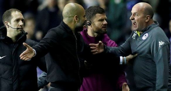 Pep Guardiola loses cool with opposition manager as Man City exit FA Cup (VIDEO)