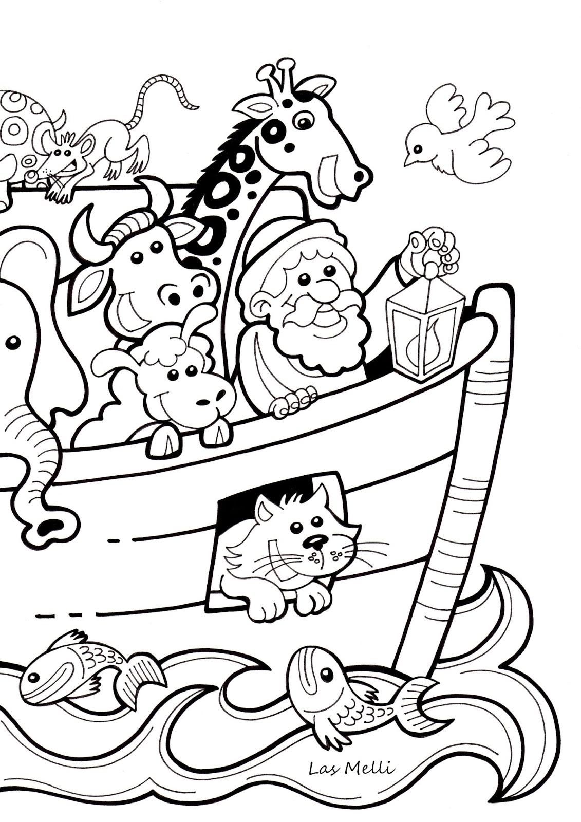 El Rincón de las Melli: LÁMINA: El Arca de Noé (para los más chiquitos)