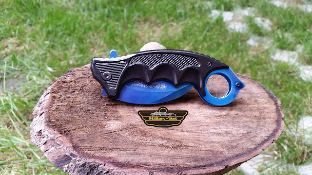 Karambit Smith & Wesson Blue Albastru