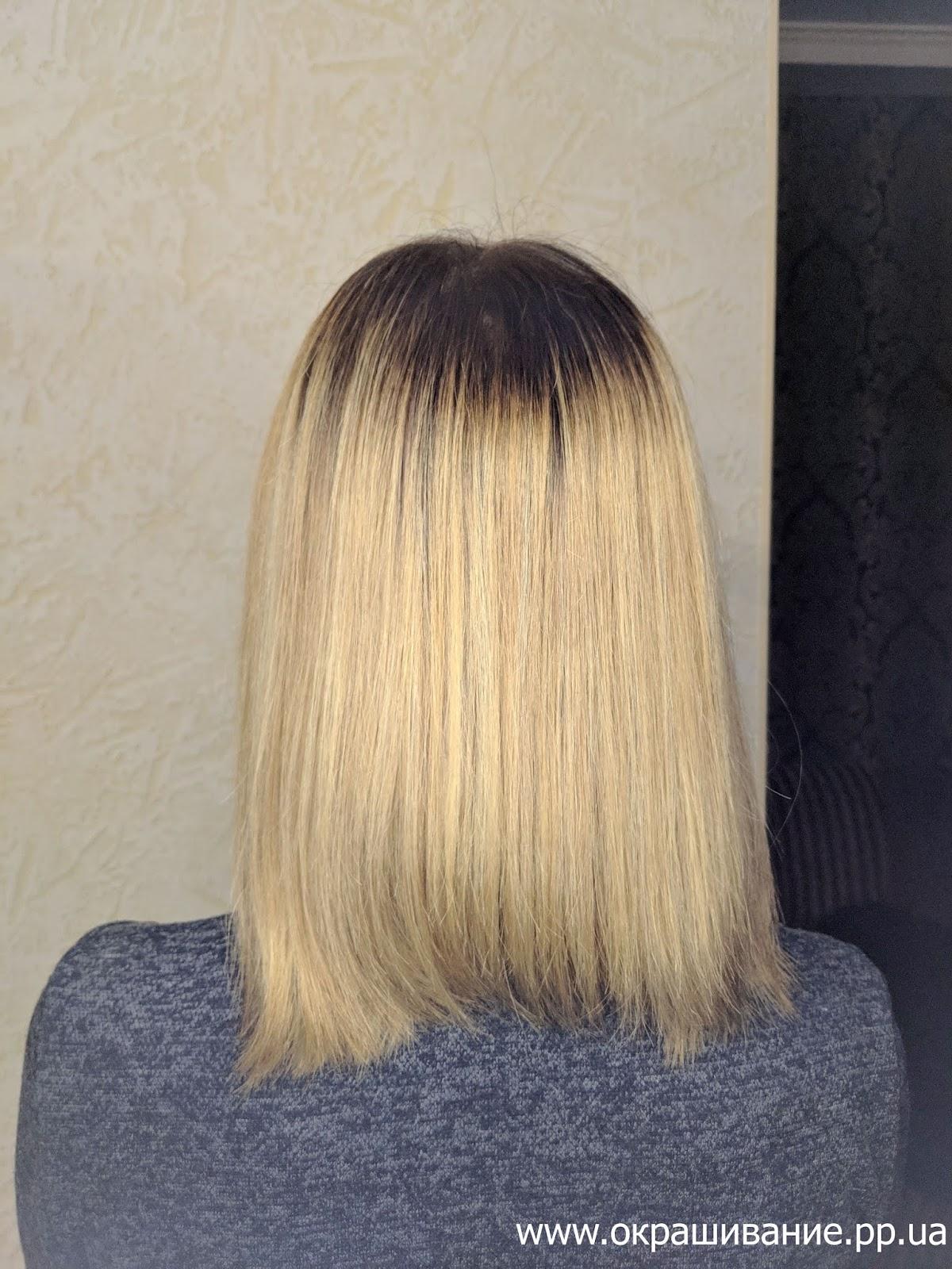 Плавный выход с рыжего в блонд