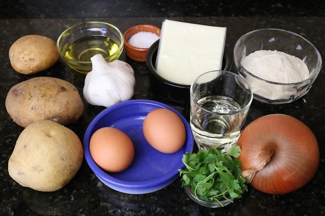 Ingredientes para patatas a la unión