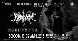 Concierto de BEHEXEN en Bogotá - 3