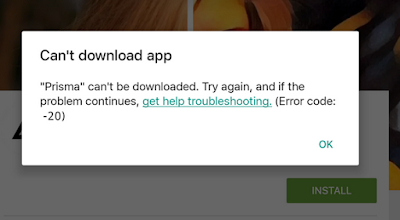 Prisma can't be downloaded