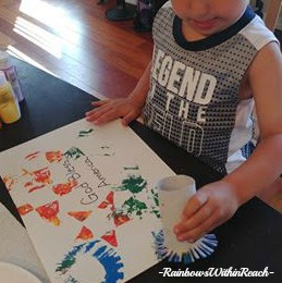 Process Art with Young Children, Creating Fireworks, Patriotic