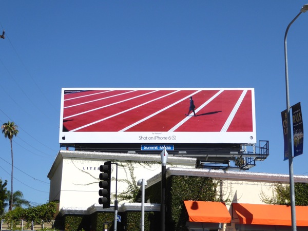 Shot on iPhone 6s Harumi T Red stripes billboard
