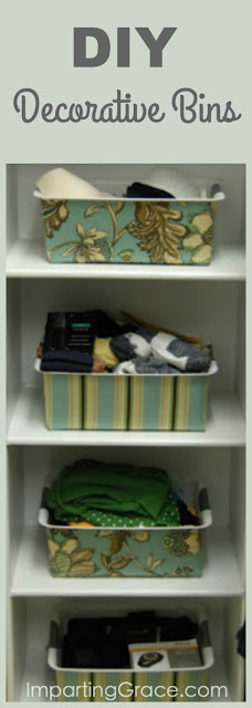 How to make your own pretty storage bins from cheap plastic containers