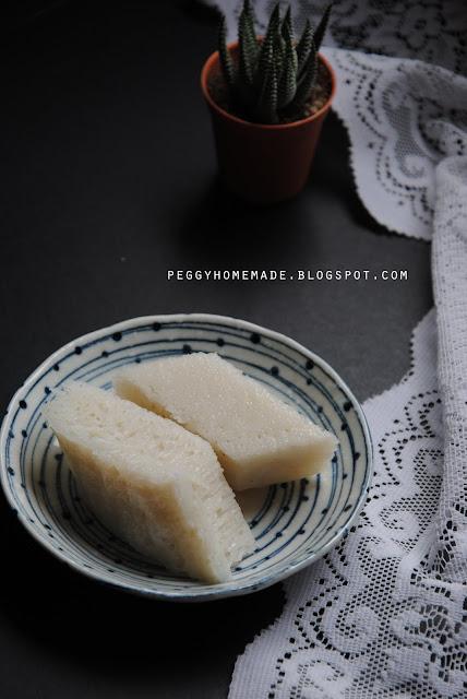 peggy's homemade: 簡易白糖糕