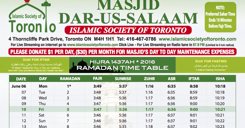 Image Result For Ramadan Calendar Ottawa
