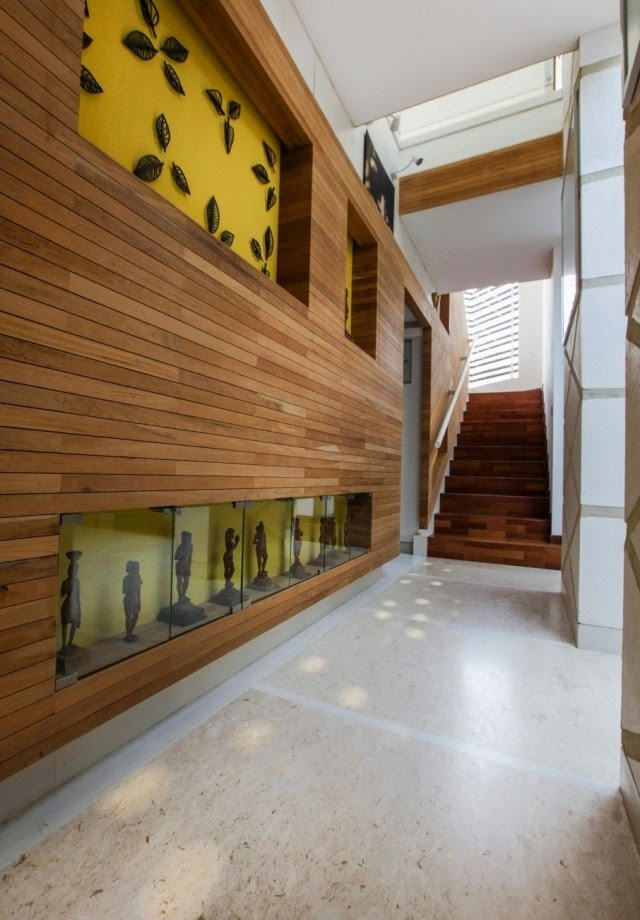 Elegant decorative wood wall paneling for modern interior
